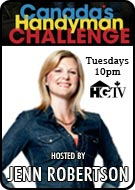 see JENN ROBERTSON in HANDYMAN CHALLENGE on HGTV